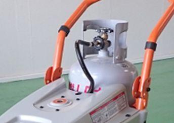 GENERACポータブル発電機 LP3250 LPガス容器の設置