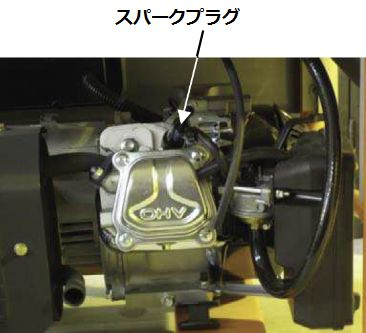 GENERACポータブル発電機 LP3250 点火プラグワイヤーを取り外す