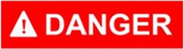 GENERAC LPガス発電機 危険表示 danger
