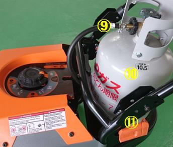 GENERAC LPガスポータブル発電機 LP5500 LPガス容器(燃料遮断)