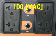 GENERAC LPガスポータブル発電機 LP5500 100(VAC)交流,20[A]のダブルソケット
