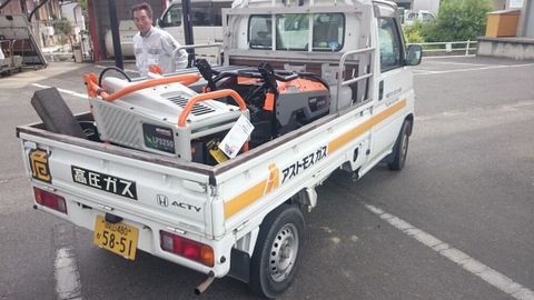 株式会社榊原商店 GENERAC非常用発電機説明会 非常用発電機搬入