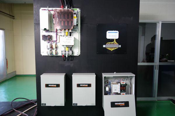 GENERAC非常用ガス発電機 電力ピークカットシステム デモ