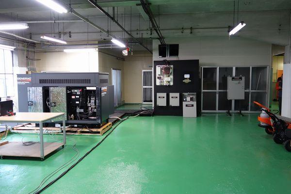 GENERAC非常用ガス発電機 デモンストレーション施設