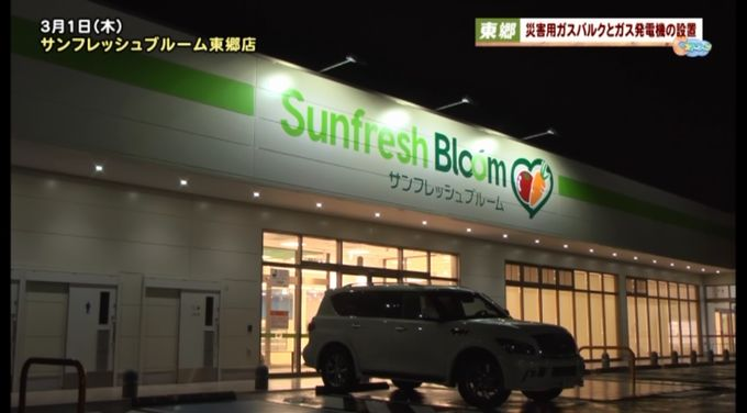 スーパーマーケット「サンフレッシュブルーム東郷店」